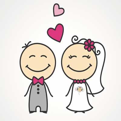 عروس داماد کارتونی